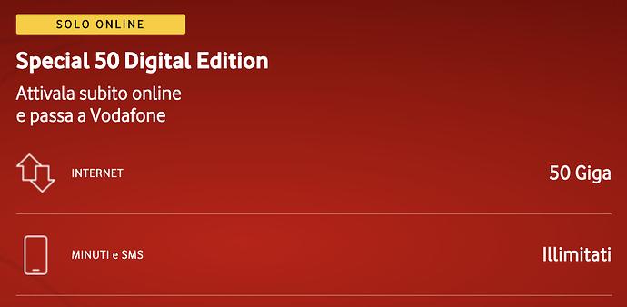 Vodafone Special 50 Digital Edition su MondoWireless.it