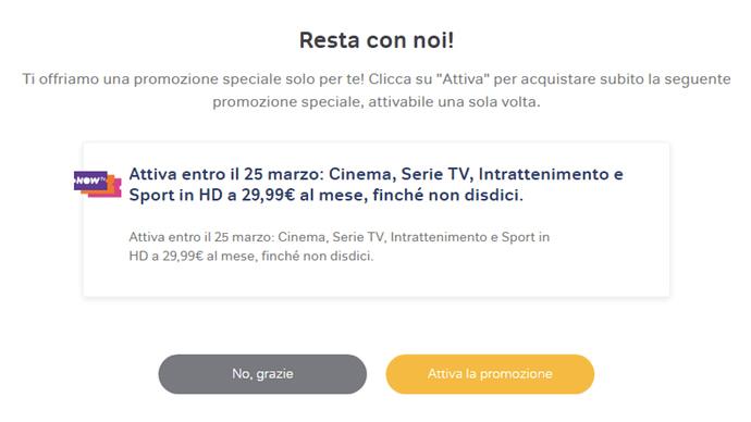 NOW TV Pacchetto Completo 29,99 per sempre MondoWireless.it attivazione